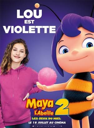 Maya l'abeille 2 LOu voix violette