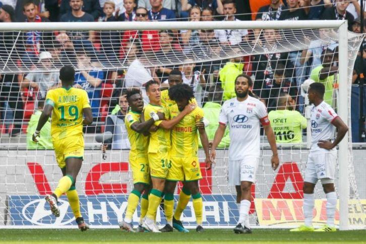 Ligue 1 8ème journée : rien ne va plus pour Lyon, battu à domicile par Nantes