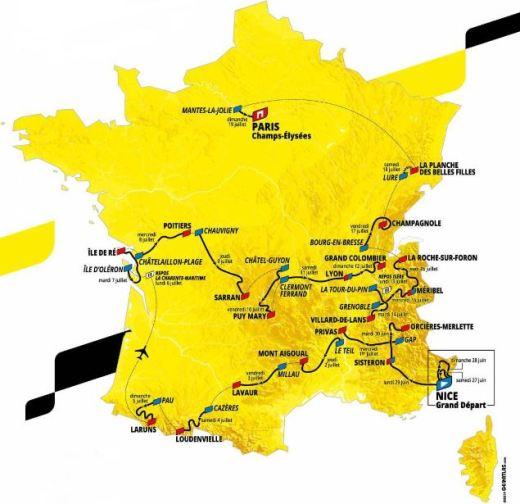 Le Parcours du Tour de France 2020