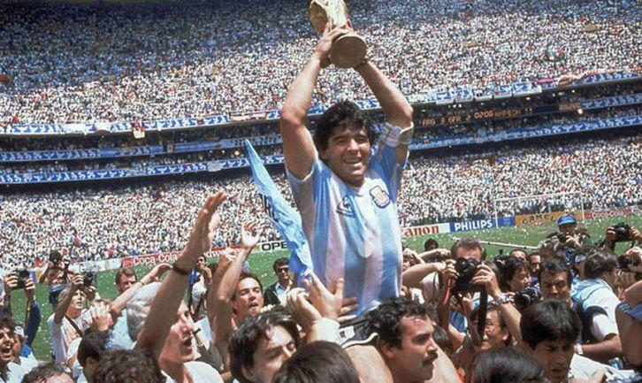 Diego Maradona, star de la Coupe du Monde 1986
