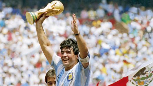 Diego Maradona, vainqueur du Mondial 1986 avec la sélection Argentine