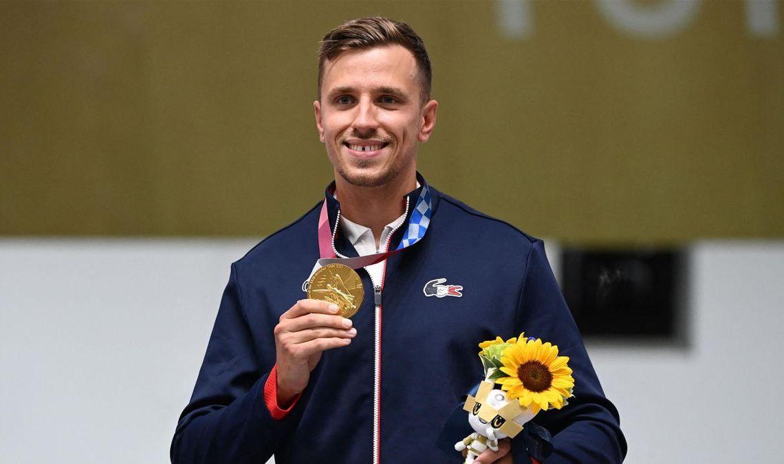Jean Quiquampoix décroche la sixième médaille d'or tricolore dans l'épreuve du tir pistolet vitesse 25m