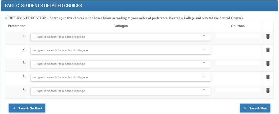 uchaguzi wa vyuo vya diploma tamisemi selform 2021