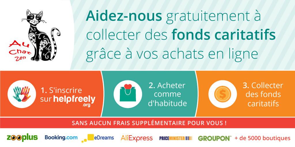 Collecte de dons via vos achats en ligne
