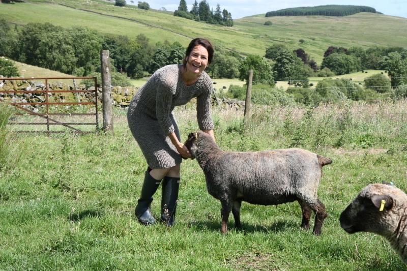 Nicole and sheep
