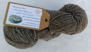 wool from coloured ryeland sheep