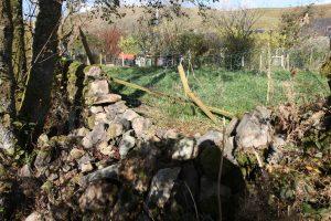 hen run stone dyke collapsed