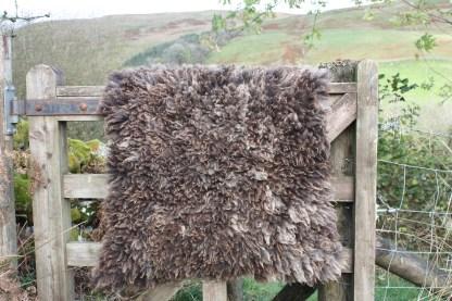 handmade felted fleece rug