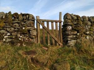 gate gap in stone dyke