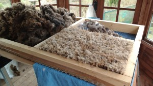 making felted fleece rugs