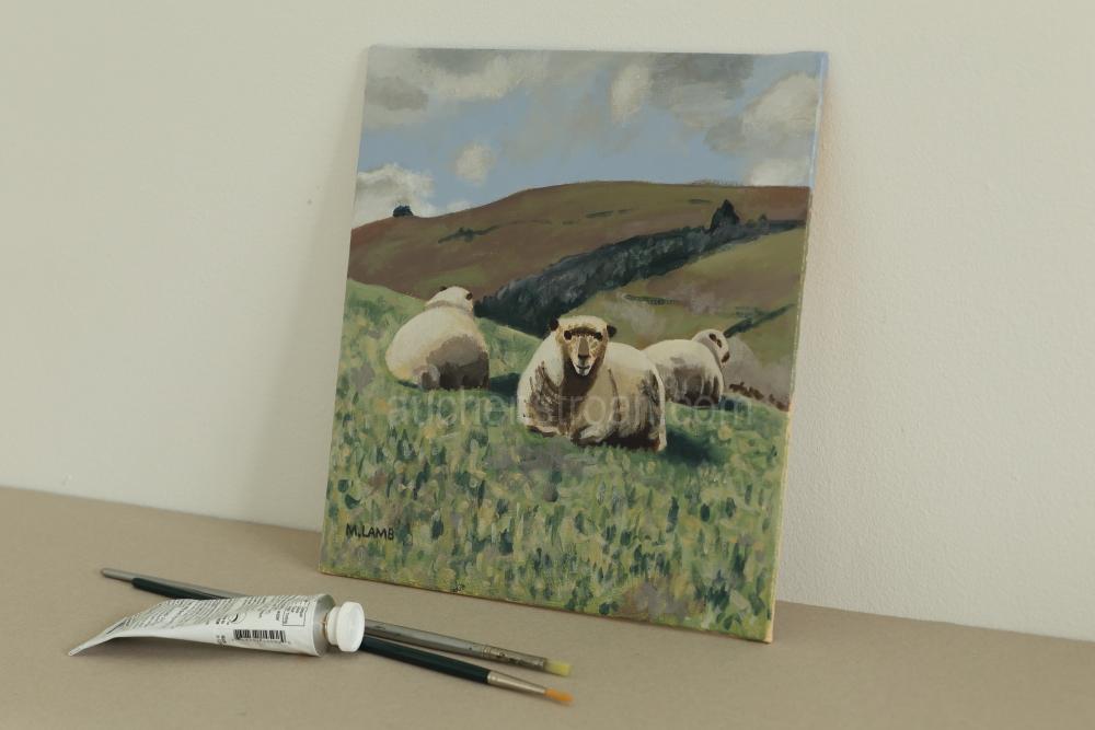 Farm gifts - Yogi & friends original acrylic painting