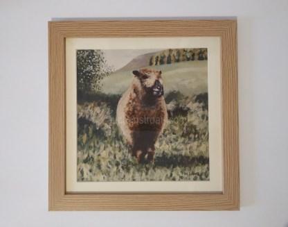 sheep print framed - Ynca