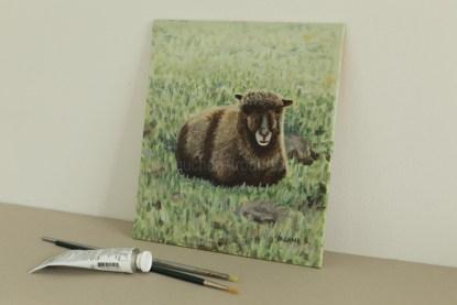 original acrylic painting - sheep - Yoko