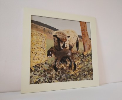 sheep mounted print - Witchy & Yogi lamb