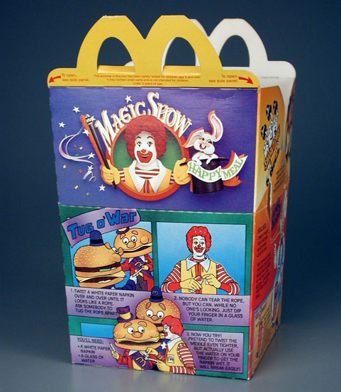 1985 McDonalds Ronald McDonald Magic Happy Meal