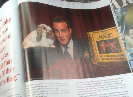 Mick Peck Magician Sunday Magazine Photograph 2015