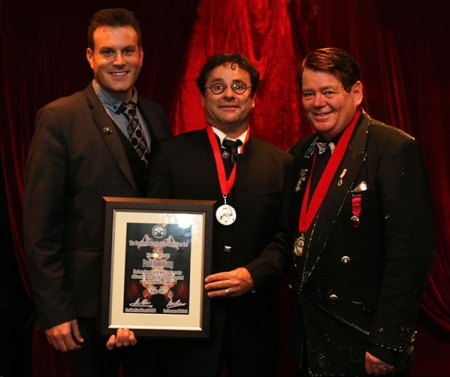 Magicians Mick Peck, Paul Romhany and Alan Watson, Wellington Magicians Convention 2015