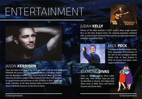 Auckland Magician Mick Peck Hands Fundraiser 2017 Jason Kerrison Judah Kelly and Diamond Divas