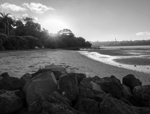 Remuera Beach - Black & White
