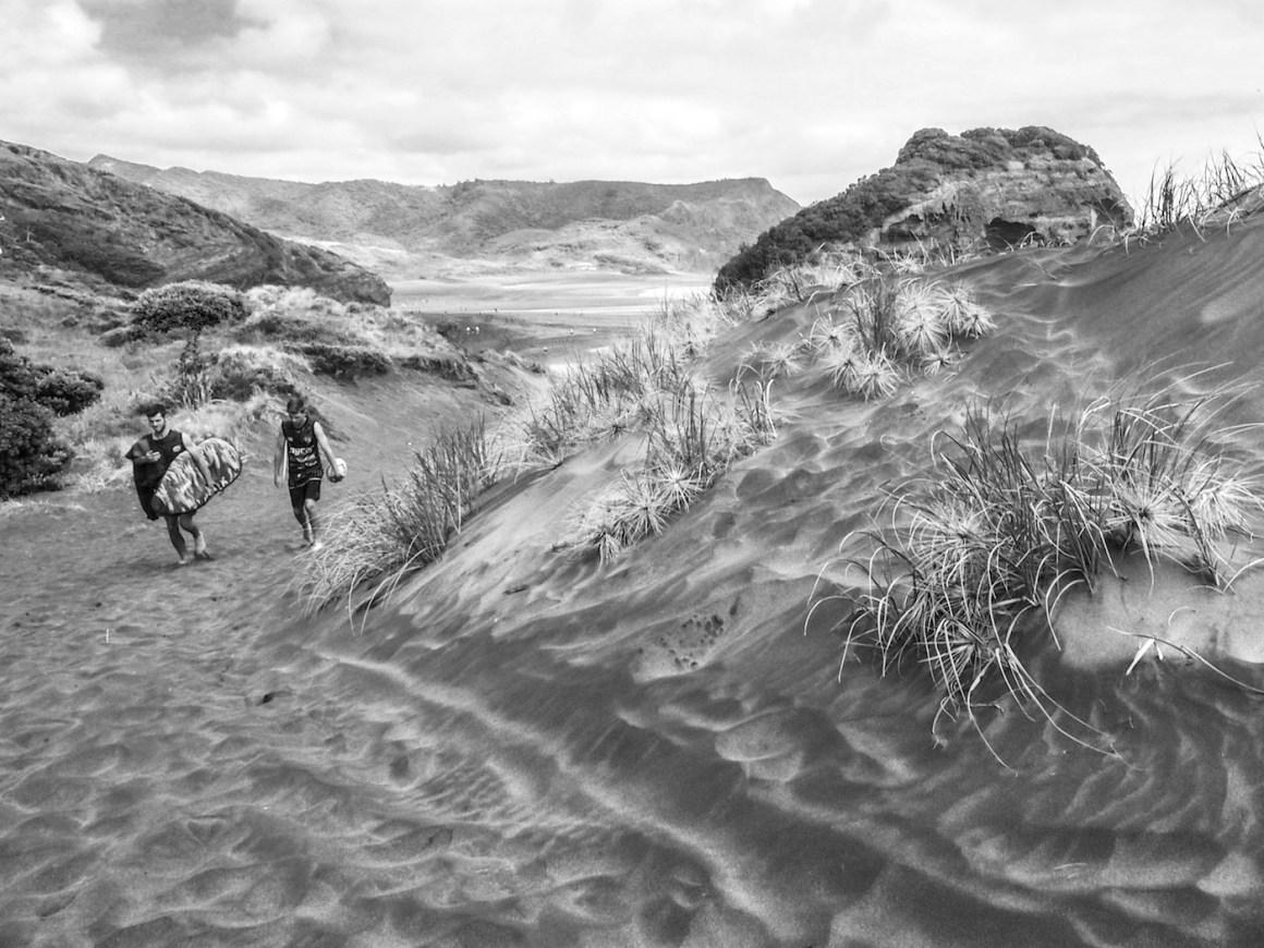 Bethells Beach Dunes - Black & White - Landscape Photography Auckland