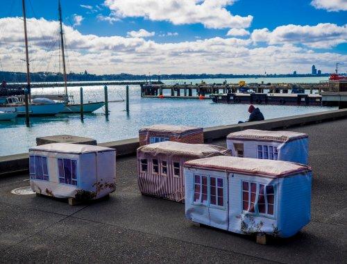 Little Houses Wynyard Quarter - Street Photography Auckland