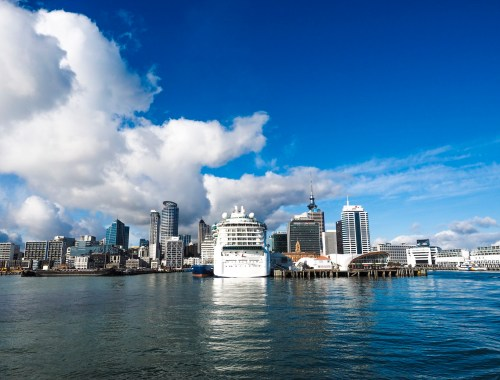 Auckland Harbour Skyline