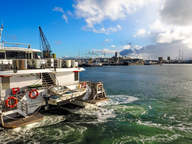 Docking Ferry Viaduct Harbour Auckland