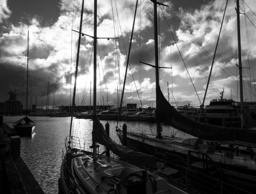 Boats & Clouds Viaduct Harbour Street Photography