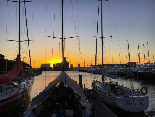 harbour-yachts-sunset