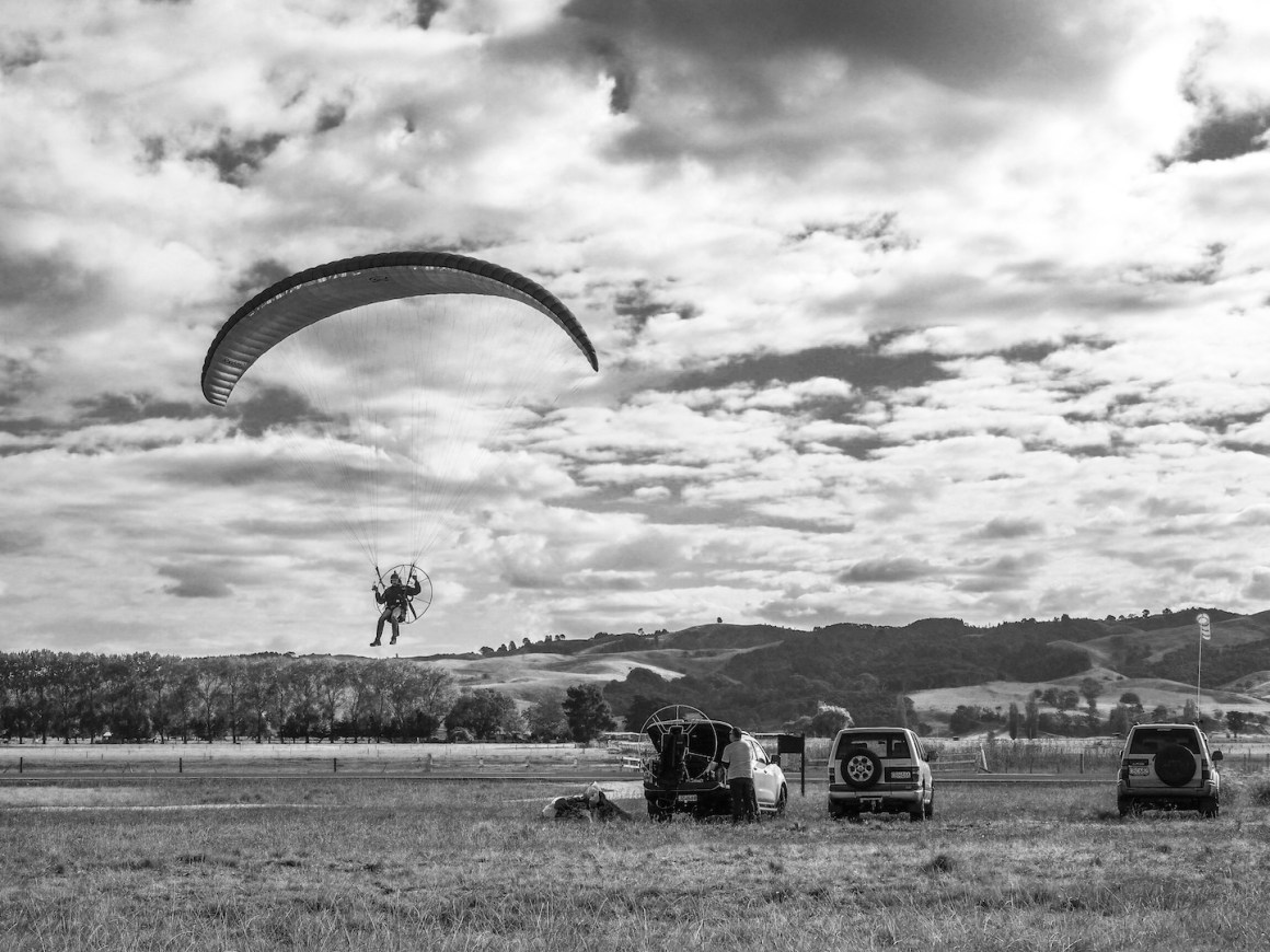 Paraglider Rays Rest - Landscape Photography