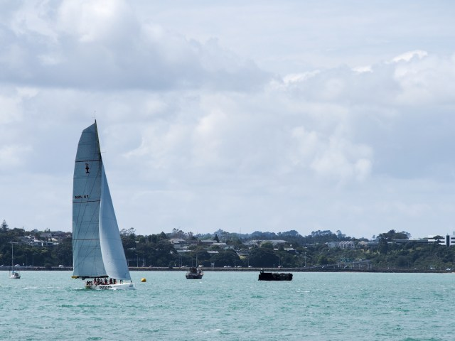 Sailing Yacht & Clouds - Auckland Street Photography