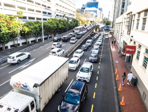 Auckland CBD Bad Rush Hour Traffic - Street Photography