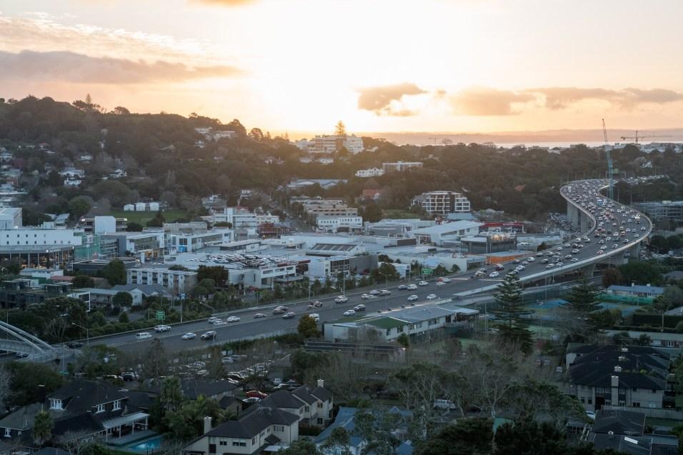 Auckland Newmarket Motorway Evening Traffic