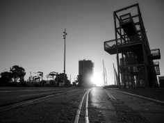 Nightfall at Silo Park Wynyard Quarter - Auckland Street Photography