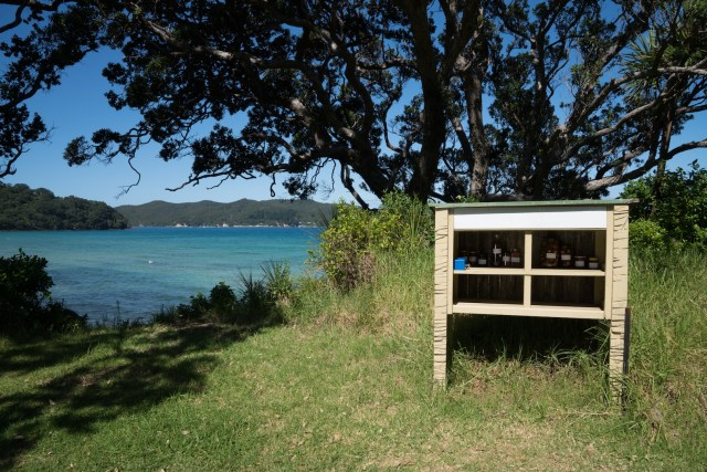 Produce Box in Tryphena on Great Barrier Island, Aotea