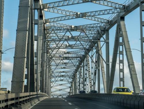 Crossing Auckland Harbour Bridge - Street Photography
