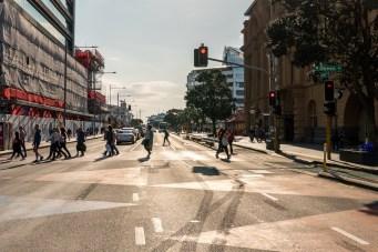 Britomart Quay Street People Crossing - Street Photography Auckland