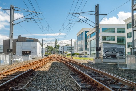 Newmarket Kingdon Street Rail Tracks - Street Photography Auckland