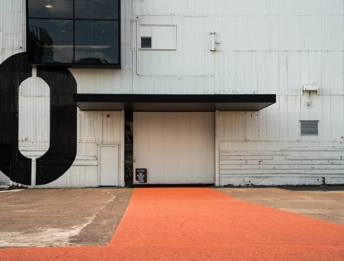 Red Concrete at Queens Wharf Shed 10 - Street Photography Auckland