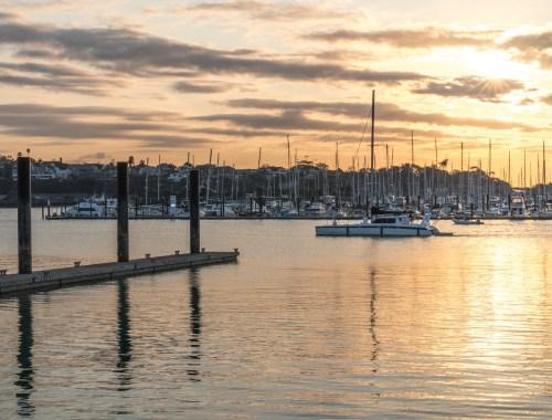 Silo Park Marina Sunset - Street Photography Auckland