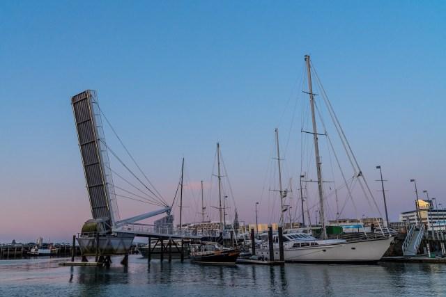 Viaduct Harbour Bridge Open - Street Photography Auckland