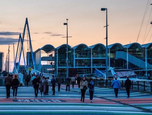 Viaduct Harbour Bridge Pedestrians Walk - Street Photography Auckland