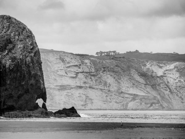 Auckland Manukau Heads Black and White - Aucklife Framed Photo Print