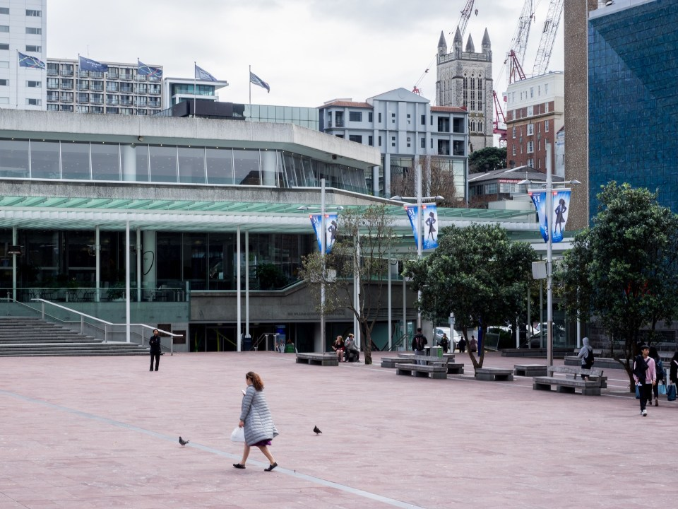 Empty Aotea Square Auckland Central