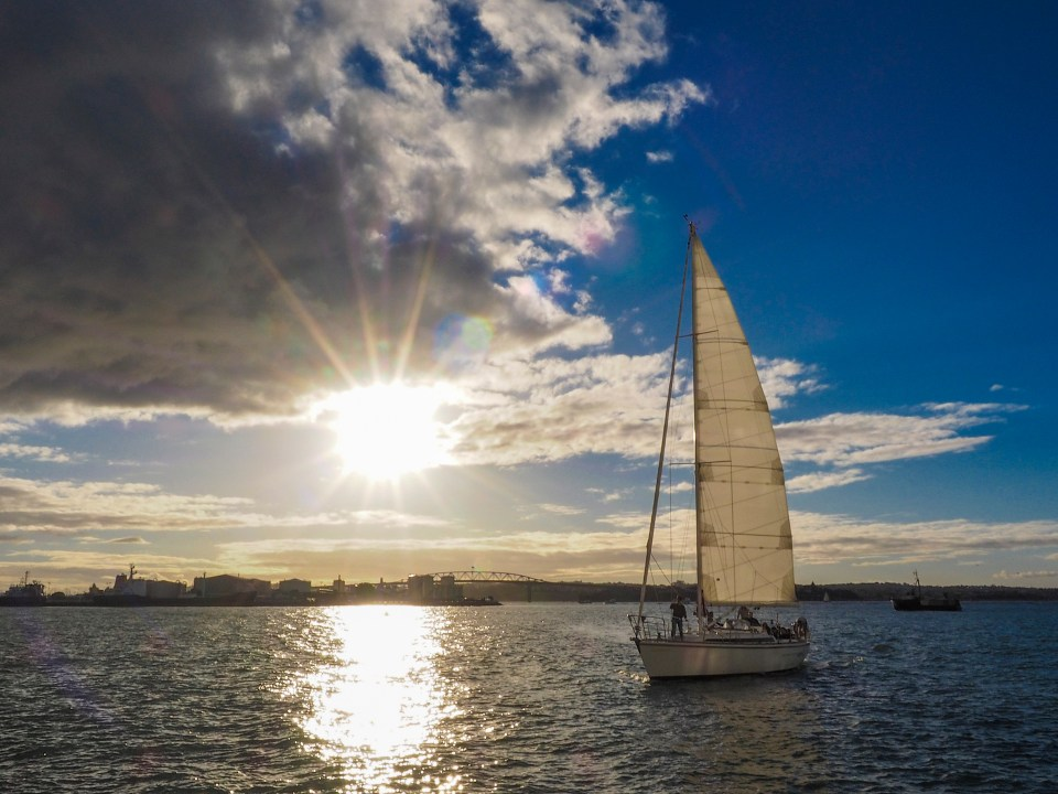 Sunset Sailing in Auckland Harbour