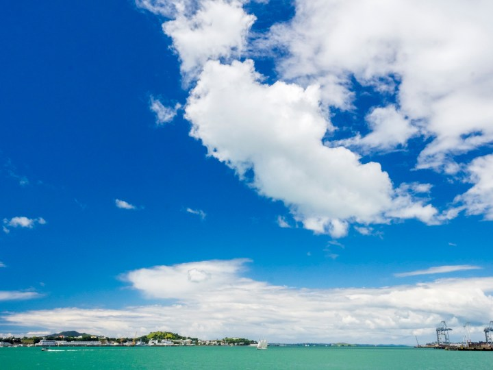 Auckland Harbour Sky & Clouds - Street Photography Auckland