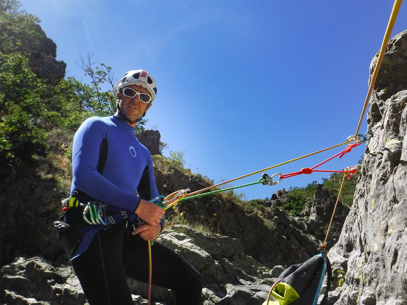 Fred Vallet moniteur canyoning Savoie Chambéry - guide de canyoning