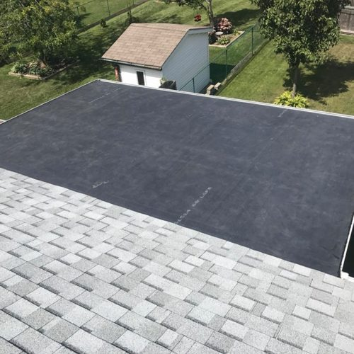 small rubber roof