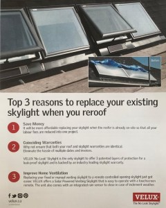 replacing skylight infographic