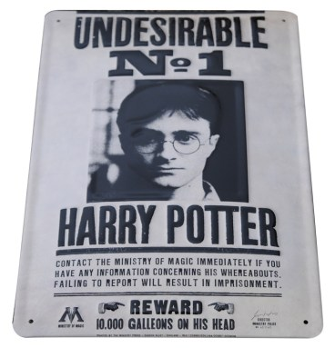Plaque Metallique 3D harry potter